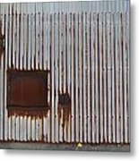 Rust And Window 2 Metal Print