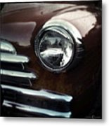 Rust-colored Chevy Metal Print