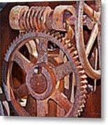 Rust Gears And Wheels Metal Print