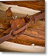 Rust Trapped On A Log - Old Trap - Casper Wyoming Metal Print