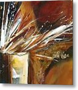 Rust With Gold 1 Metal Print