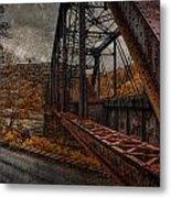 Rusted Bridge Metal Print