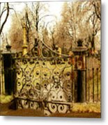 Rusted Cemetery Gate Metal Print