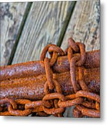 Rusted Chained Metal Print