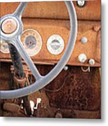 Rusted Dash Of Classic Car Metal Print