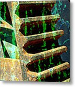 Rusted Gears Abstract Metal Print