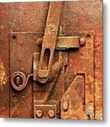 Rusted Latch Metal Print by Jim Hughes