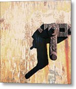 Rusted Metal Abstraction Metal Print by Ann Powell