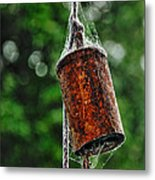 Rusted Old Cowbell Metal Print by Kaye Menner