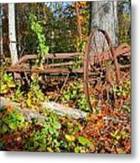 Rusted Old Plow Metal Print