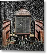 Rusted Old Tractor Metal Print