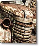 Rusted Pickup  Metal Print