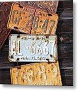 Rusted Plates Metal Print