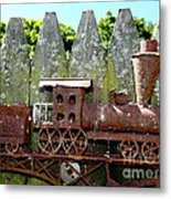 Rusted Rails Metal Print
