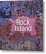Rusted Rock Island Line Train Car Metal Print