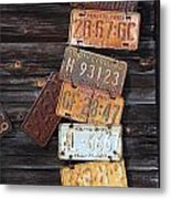 Rusted Usa Metal Print