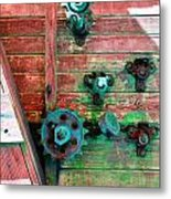 Rusted Valves Metal Print
