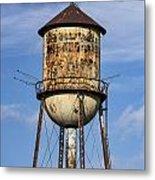Rusted Water Tower Metal Print