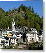 Rustic Alpine Village Metal Print