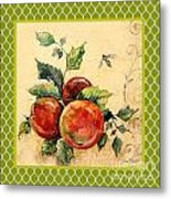 Rustic Apples On Moroccan Metal Print