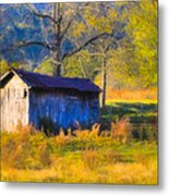 Rustic Autumn Landscape In North Georgia Metal Print by Mark E Tisdale
