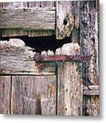 Rustic Barn Door Metal Print