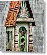 Rustic Birdhouse Metal Print
