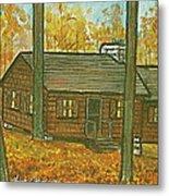 Rustic Cabin At Lake Hope Ohio Metal Print