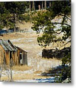 Rustic Cabin In The Pines Metal Print