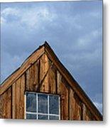 Rustic Cabin Window Metal Print