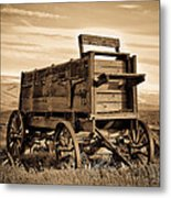 Rustic Covered Wagon Metal Print