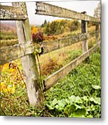 Rustic Landscapes - Broken Fence Metal Print
