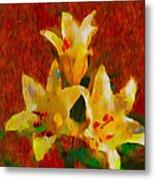 Rustic Lilies 2 Metal Print