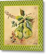 Rustic Pears On Moroccan Metal Print