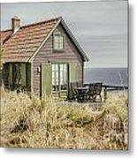 Rustic Seaside Cottage Metal Print