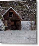 Rustic Shack After The Storm Metal Print