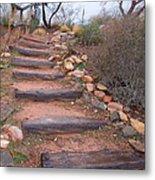 Rustic Stairway Metal Print