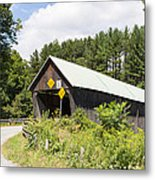 Rustic Vermont Covered Bridge Metal Print
