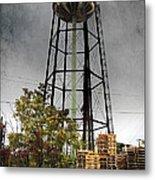 Rustic Water Tower Metal Print