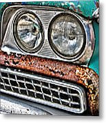 Rusty 1959 Ford Station Wagon - Front Detail Metal Print