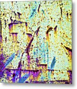 Rusty Background Metal Print