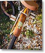 Rusty Bike Bumper Metal Print