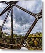Rusty Bridge In Fall Metal Print