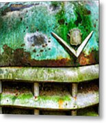 Rusty Caddy Metal Print