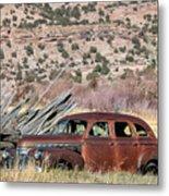 Rusty Chevrolet Special Deluxe In Manila Utah Metal Print