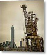 Rusty Cranes At Battersea Power Station Metal Print