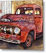 Rusty Crusty Ford Truck Metal Print
