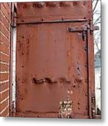 Rusty Door 1 Metal Print