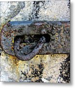 Rusty Dusty And Grimy Lock Plate Metal Print