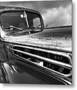 Rusty Ford 1942 Black And White Metal Print